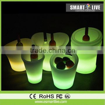 glowing plastic illuminated led table and chair for bar,nightclub decor furniture