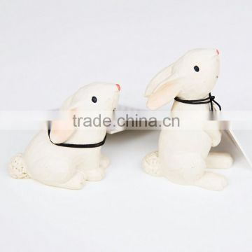 Custom resin bunny figurine christmas ornament