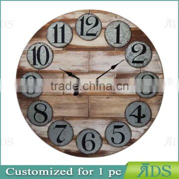 wood wall clock design / wood design wall clock
