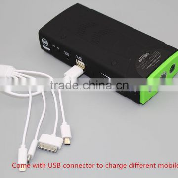 12000mah Car Battery jump Starter Power Bank Battery Charger Laptop Mobile Phone