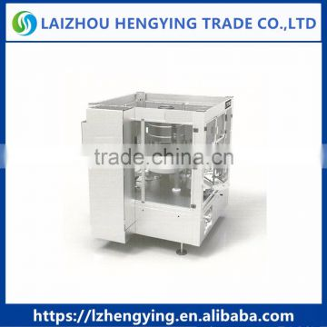 HL2A-8 Full automatic double labeling stations cold glue bottle labeling machine