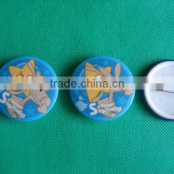 4C aluminum printing button badge with plastic cover