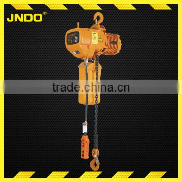 1ton HHBB electric chain hoist block with trolley manufacture