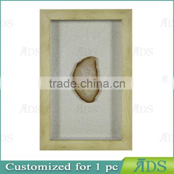 1Pc Customized 3D Shadow Box Wall Art with Color Natural Agate Stone