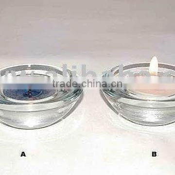 Glass votive T-Light Holder