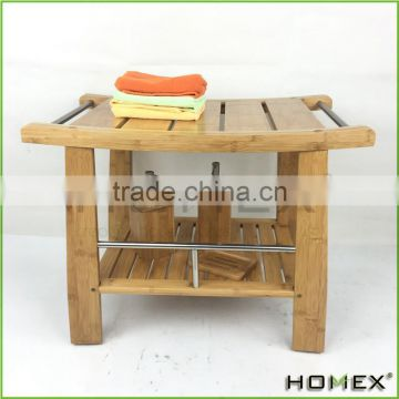 Nice Construction Bamboo Shower Bench/Homex_BSCI