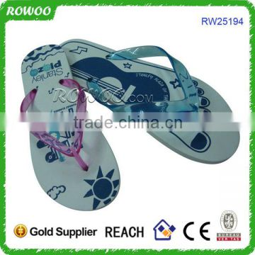 Customized Cheap White Flip Flops Gift Natural EVA Flip Flops