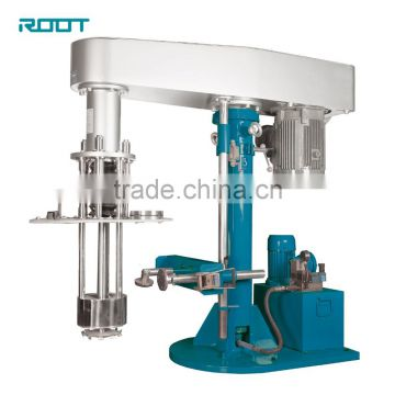 Vertical basket bead mill for enamel pigment