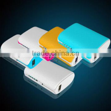 high quality dual usb powerbank portable Mobile Power with led light