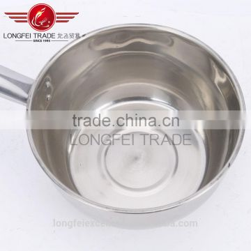 factory stocked two different size stainless steel soup/milk boilling pot