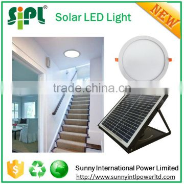 Solar Innovation home light new version of skylight skytube 15 watt solar panel powered flat round LED panel light