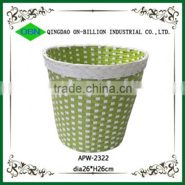 Colored woven waste baskets decorative