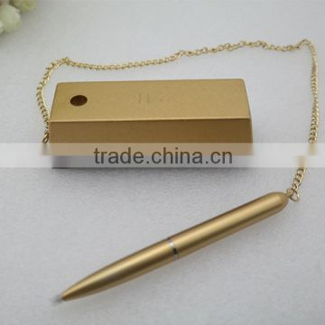 gold and silver counter pen bank pen hotel pen