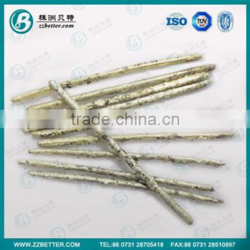 composite rods are tungsten carbide formed in a nickel/silver matrix