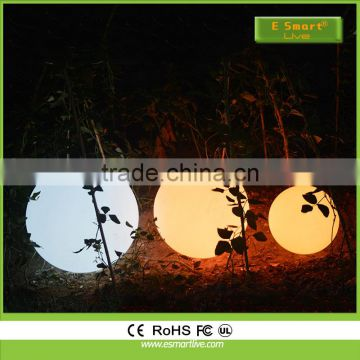 Outdoor different size magic led light up swimming pool ball light/ PE material led waterproof floating ball with hook