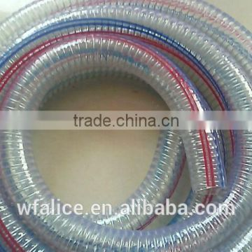 Corrugated PVC spiral steel wire reinforced hose