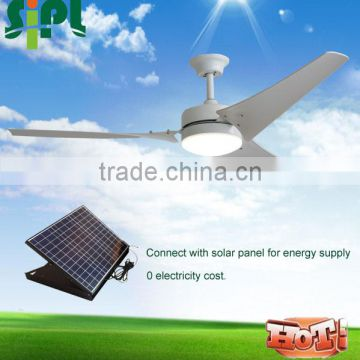 Vent tool Best selling 24V brushelss DC motor 60 inch ceiling fans with remote control solar panel powered solar ceiling fan R