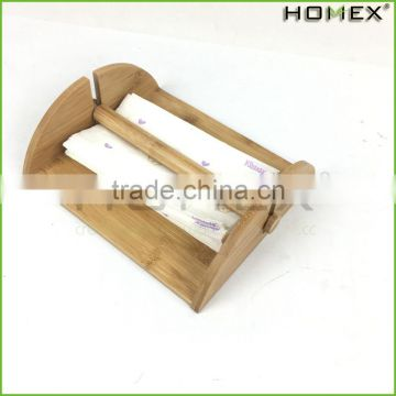 Bamboo Kitchen Napkin Holder Rack with Center Bar Homex BSCI/Factory
