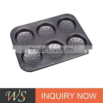 WS-B0602 Non-stick Carbon Steel Muffin Pan