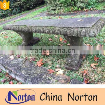 antique stone carved granite garden bench for sale NTMF-B003Y