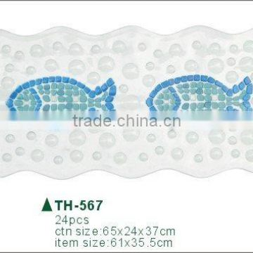 promotional fish shape pvc bath mat
