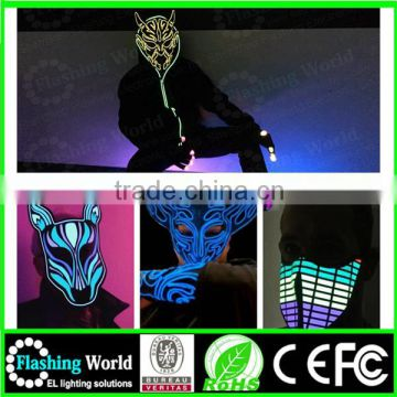 Interesting Vedio music actived 2016 top design COSPLAY lace masquerade party mask
