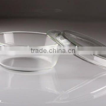 Round pyrex glass microwave oven bakeware