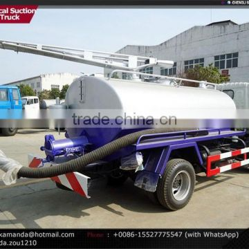 Dongfeng 4*2 95hp small 4000-5000 liter vacuum tank truck vacuum truck sale vacuum tankers for sale