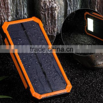 solar system 8000mAh Power Bank with LED Power display