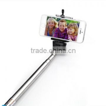 Wireless Self Selfie Stick Handheld Monopod+Clip Holder+Bluetooth Camera Shutter Remote Controller for iPhone Samsung gopro