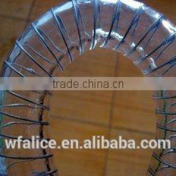 pvc spiral reinforced spring steel wire hose pipe