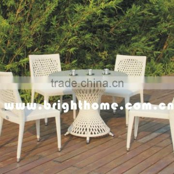 Outdoor Patio Rattan Furniture Dining Set Chair and Table