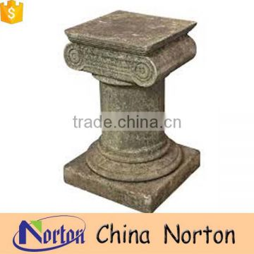 stone carving marble antique pedestals home decorations NTMF-PE015Y