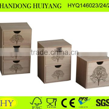 Chinese wholesale custom high quality wooden box with drawer