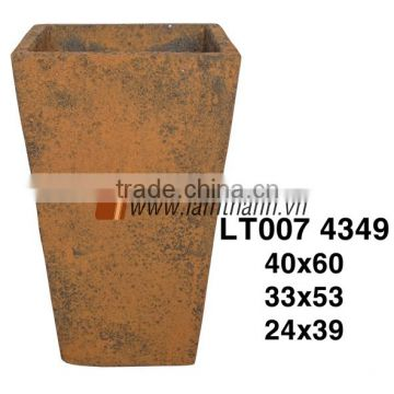Fiberglass Cement Stone-like Home Decor Flower Pot Wholesale