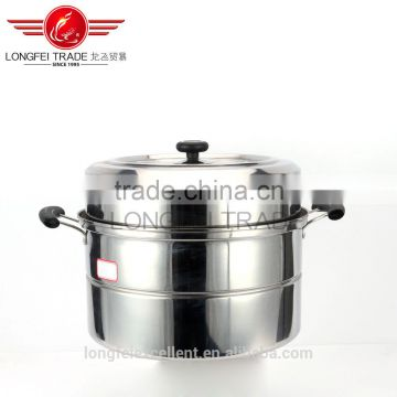 2016 popular in china stainless steel cookware pot/stainless steel steam pot