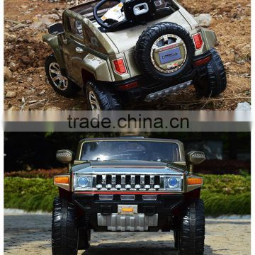 License kids car hummer HX ride on car with four wheel suspension car for toy two doors open HL188