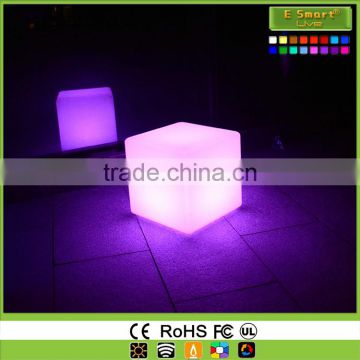 50CM Outdoor Waterproof led cube color changing square bar seat furniture