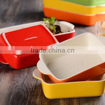 2017 colorful glazed stoneware baking pan dishes custom ceramic bakeware sets