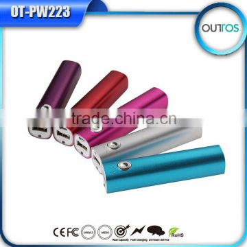 newest popular custom logo power bank 2000mah