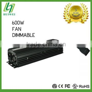 Hydroponic HPS MH Electronic ballast 600W Dimmable With Cooling Fan Original Manufacturer