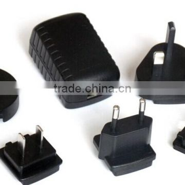 5 W, DoE Level VI & CoC Tier 2 Efficiency, USB Input, Interchangeable Input Blades, Wall Plug Adapter, Ac-Dc Power Supply