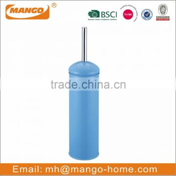 Blue Colored Metal toilet brush and holder