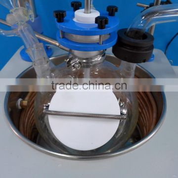 High quality vacuum electric stiring single glass reactor 10l