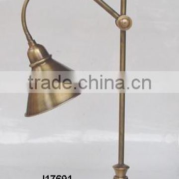 brass table lamp with Antique brass finish