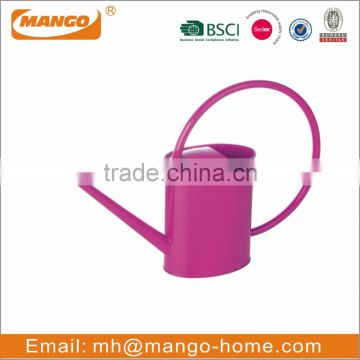 Colorful Powder Coating Metal Oval Garden Watering Can