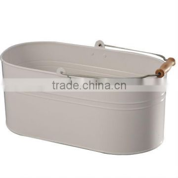 metal Laundry Box with wire handle +wooden block