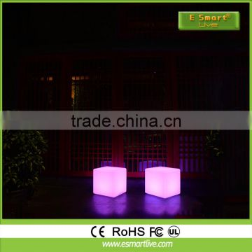 LED Cube Chair for coffee ship/led mood light cube/Wireless Remote Control led 50cm cube chair outdoor