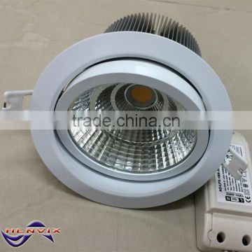 Cree LED Lifud driver 30W led downlight with 120mm cut out