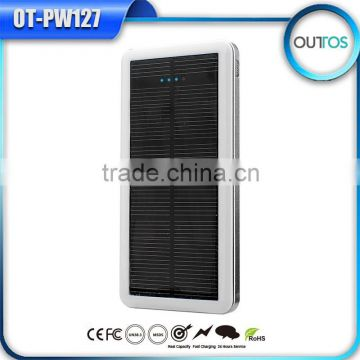 New Products in China Market High Quality Solar Power Bank Dual USB Charger